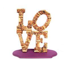 LOVE in wine corks