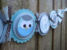 Its a Boy Baby Shower New Baby Owl Banner Party Decoration on Etsy, $20.25