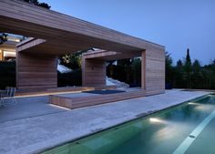 Stunning House in Zürich: 2 Verandas Villa by Gus Wüstemann Pergola, Gazebo, Residential Architecture, Interior Architecture, Interior Design, House 2, Switzerland House, Wood Facade, Pool Houses