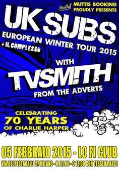 #Punk news:  Da stasera UK SUBS in Italia per due date http://www.punkadeka.it/da-stasera-uk-subs-in-italia-per-due-date/ Da stasera gli storici Uk Subs saranno nel nostro paese per due date per festeggiare il 70esimo compleanno del frontman Charlie Harper. Di seguito i dettagli. UK SUBS + TV SMITH (The Adverts) Giovedì 5 febbraio, Lo-Fi Club, Milano +Il C...