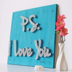 P.S I Love You String Wall Art by mintiwall │ ★ String Art ★