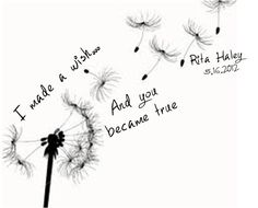 "Dandelion Tattoo, except with ""I want adventure in the great wide somewhere"" (from the Beauty and the Beast)"
