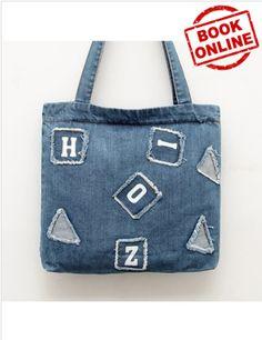 Cheapest Shopping Single Shoulder Bag Korean Fashion Letters Pattern Canvas  Shopping Single Shoulder Bag Blue. Qing Joyce · handbag c41368a8ae907