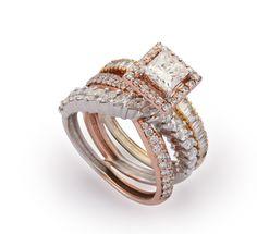 Classy diamond studded ring
