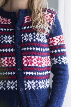 Naisen kirjoneuletakki Novita Nalle | Novita knits
