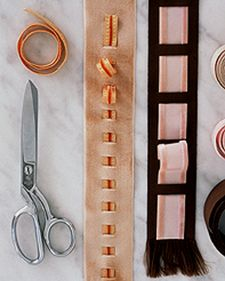 Ribbon Bookmarks by Martha Stewart (potential) How To Make Bookmarks, Ribbon Bookmarks, Ribbon Art, Diy Ribbon, Martha Stewart Crafts, Arts And Crafts, Diy Crafts, Projects For Kids, Candle Sconces