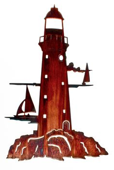 This Lighthouse wall art is perfect for any space!