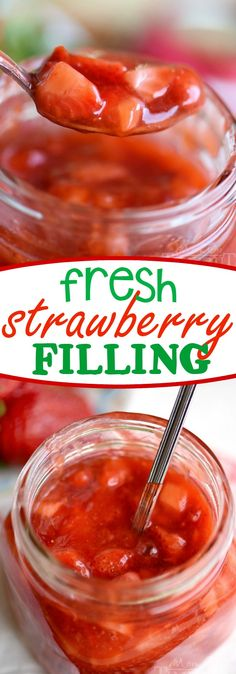 Fresh Strawberry Filling - You're going to want to put this in and on everything: cakes, cupcakes, crepes, pancakes, cinnamon rolls, you name it! (Hint: It also makes a delicious ice cream topping!)