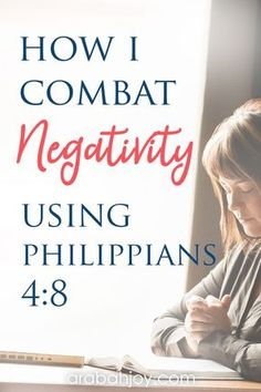 Bible Verses:Philippians 4 verse 8 instructs us how we can deal with every negative thought that tries to creep in and take root in our lives. Prayer Scriptures, Bible Prayers, Bible Verses Quotes, Bibel Journal, Negative Thoughts, Negative Person, Negative Thinking, Christian Quotes, Christian Women