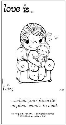 Pensamentos, Citações e Coisas do Género... Thoughts, Quotes and Those Sort of Things...: Amor é... quando o teu sobrinho favorito te visita...