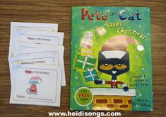Printable Easy Reader based on Pete the Cat Saves Christmas- free download!