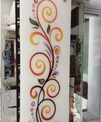 Glass Painting, Glass Art, Door Design, Glass Painting Designs, Hall Decor, Paint Designs, Door Glass Design, Glass Design, Corner Designs