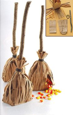 Escoba de Halloween para regalar dulces - Handfie DIY