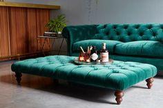 Stirling midi sofa in Oscar velvet teal