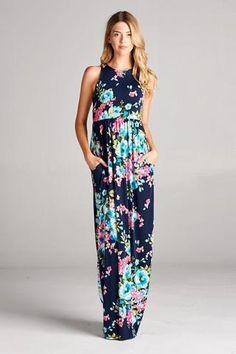 Floral Maxi Dress - Paige & Reece