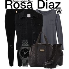 Inspired by Stephanie Beatriz as Rosa Diaz on Brooklyn-Nine Nine. Daytime  Outfit bbf3f784402a1