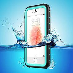 ERUM iPhone 5s/5 es 携帯ケース アイフォンケース5m完全防水 防塵 耐衝撃ケース (青)