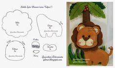 para as amigas que trabalham com artesanato infantil, segue este molde lindinho de um leão para compor a festa ou decoração da maternidade com tema Safari :)créditos.  Assine Nosso canal no Yout