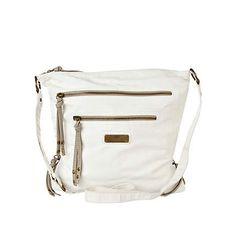 White Washed PU Messenger Bag