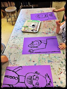 I recently began a self portrait lesson with second grade and I debated over how I wanted to begin with them. I think I have talked on here...