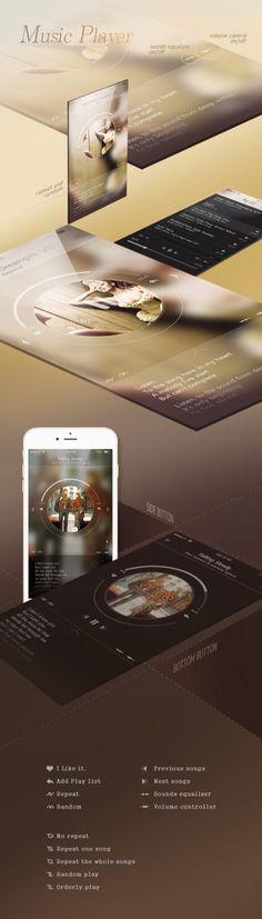 Music player UI/UX on Behance