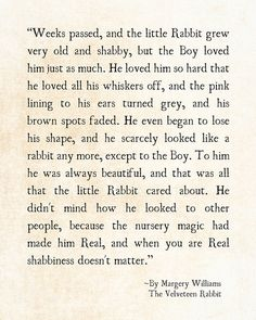 Velveteen Rabbit Quote Margery Williams by ShadetreePhotography