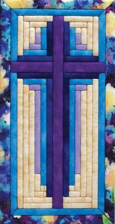 Résultat d'images pour Free Christian Quilt Patterns Cross Patterns, Quilt Block Patterns, Pattern Blocks, Quilt Blocks, Skirt Patterns, Applique Patterns, Log Cabin Quilt Pattern, Log Cabin Quilts, Barn Quilts