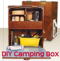 Make your own camping box to keep your supplies at the ready.  www.iowaoutdoorsmagazine.com