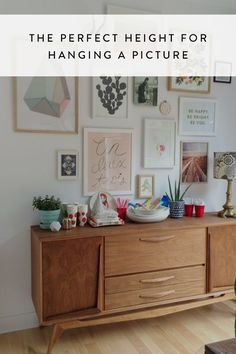 The Perfect Height for Hanging a Picture via @PureWow