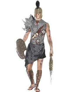 Adult #zombie roman #gladiator warrior mens #halloween party fancy dress costume,  View more on the LINK: http://www.zeppy.io/product/gb/2/191627480919/