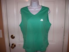 Adidas Climalite Sleeveless Green Shirt L Women's EUC #adidas #ShirtsTops