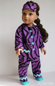 FREE PATTERN-LINKS TO ANOTHER PAGE  The Craft Patch: American Girl Doll Pajamas