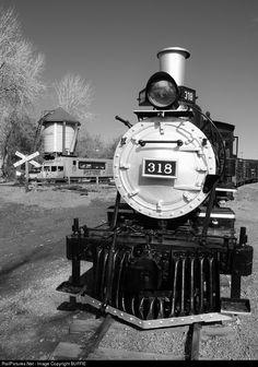 RailPictures.Net Photo: DRGW 318 Denver & Rio Grande Western Railroad Steam 2-8-0 at Golden, Colorado by BUFFIE