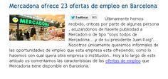 Mercadona ofrece 23 ofertas de empleo en Barcelona