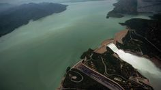 Tarbela Dam, Khyber Pakhtunkhwa, Pakistan--The United States joined several other countries to fund a $700 million project that ended last year to rehabilitate Pakistan's 485-ft.-high Tarbela Dam, which was built in the early 1970s. The dam provides hydroelectric power and flood control along the Indus River in northwest Pakistan. (Farooq Naeem/AFP/Getty Images)