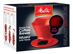 Melitta 640820 Ready Set Joe Filter Cone Pourover Cone Manual Brewer, One Cup Brewer, Red: Amazon.ca: Home & Kitchen