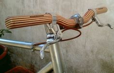 wooden bicycle handlebar