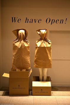 "Retail Windows ~ ""We Have Open"" Tokyo"
