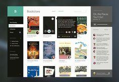 Bookshelf e-books UI by Victor Erixon
