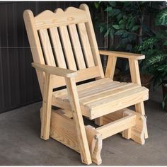 """KEY FEATURES Ships FREE in 5-7 Business days - Super comfortable, add a matching end table - Solid Knot free Yellow Pine - Add the weatherproofed cushion and have it shipped with the Swing - Handcrafted in the USA Specifications Royal English Glider Chair Seat Inside 22""""W 17""""D 17""""H, Back 24""""H, Outside 29""""L 27""""D 41""""H Wood: Solid Knotfree Yellow Pine Finish: Paint Options Assembly: Some Required Description ABOUT THE MANUFACTURER Made in the United States by Amish craftsmen, A&L Furniture is…"""