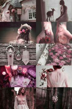 sweet-tempered witch aesthetic (requested) { request here } { more here }☮ * ° ♥ ˚ℒℴѵℯ cjf Witch Aesthetic, Aesthetic Collage, Pink Aesthetic, Nature Aesthetic, Wiccan, Witchcraft, Color Inspiration, Character Inspiration, Foto Fantasy