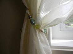 DIY Beaded Curtain Tiebacks DIY Curtains DIY Home DIY Decor