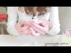 Мастер класс по изготовлению веточки сакуры из полимерной глины Azalee - YouTube