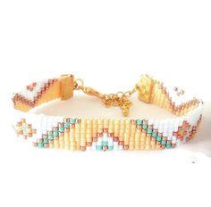 Tribal bead loom bracelet friendship bracelet by OceanGlowJewelry