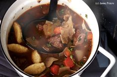Krauteintopf mit Polentanockerln Hot Pot, Polenta, Kraut, Beef, Food, Food Food, Meat, Ox, Ground Beef