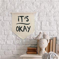 Flâmula de tecido - It's okay
