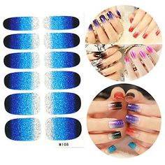 Tint 28PCS Glitter Gradient Ramp Nail Art Stickers M Series NO.108 >>> Find out more about the great product at the image link.