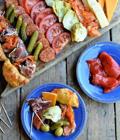 """Karen Burns-Booth presents """"Picada"""" - Argentina's version of a Tapas style sharing platter. You can see from the photos it is the ideal plate of food to see you through the rest of the World Cup!"""