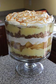 caramel apple trifle - in a Pampered Chef Trifle Bowl