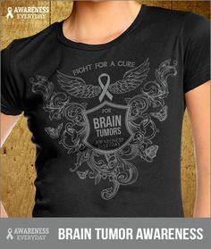 Enter to WIN this Brain Tumor Awareness T-Shirt http://awarenesseveryday.com/signups/brain-tumor/